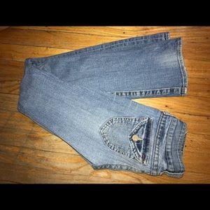 True religion bootcut jeans.